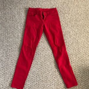 American Eagle Pants/Red/Skinny/Stretchy/XS